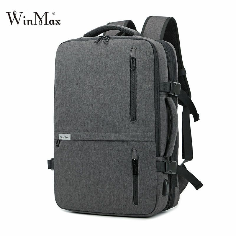 020e0bd0e401 Winmax Waterproof 15.6inch Laptop Mutifuctional Business Backpacks Men  Fashion USB Charging Teenage Large Travel Backpack Bags Review