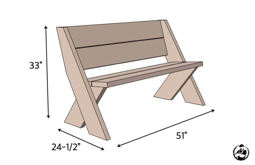 Photo of DIY Outdoor Bench in 30 mins w/ only 3 Tools!   Plans by Rogue Engineer