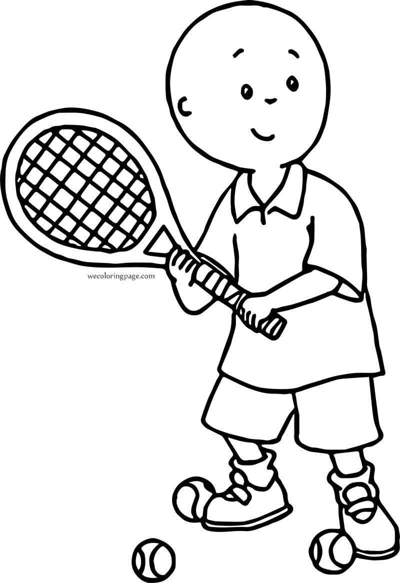 Caillou Tennis Player Coloring Page Tennis Players Coloring Pages Bible Coloring Pages
