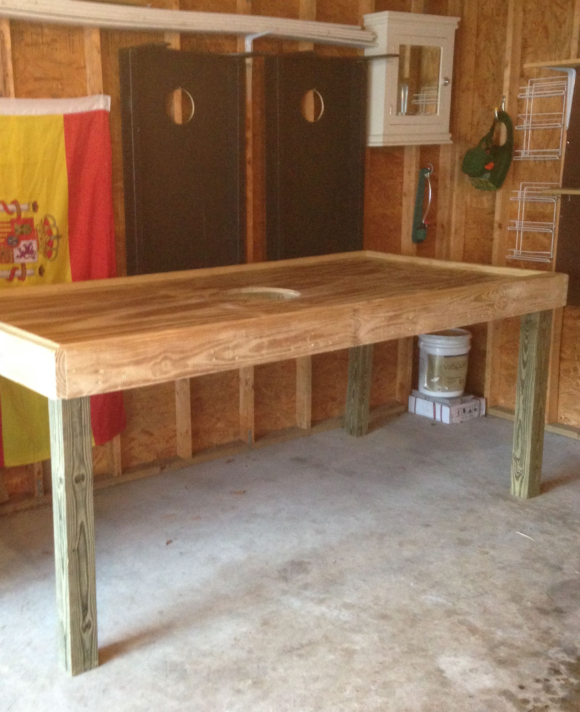 Diy Oyster Shucking Table For Roasts