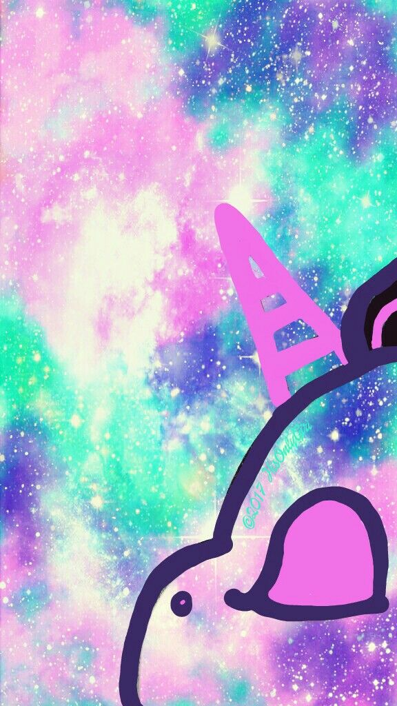 Pastel unicorn galaxy iphone android wallpaper i created for Imagenes bonitas para fondo de pantalla
