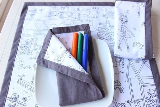 DIY Self Binding Cloth Napkins #clothnapkins