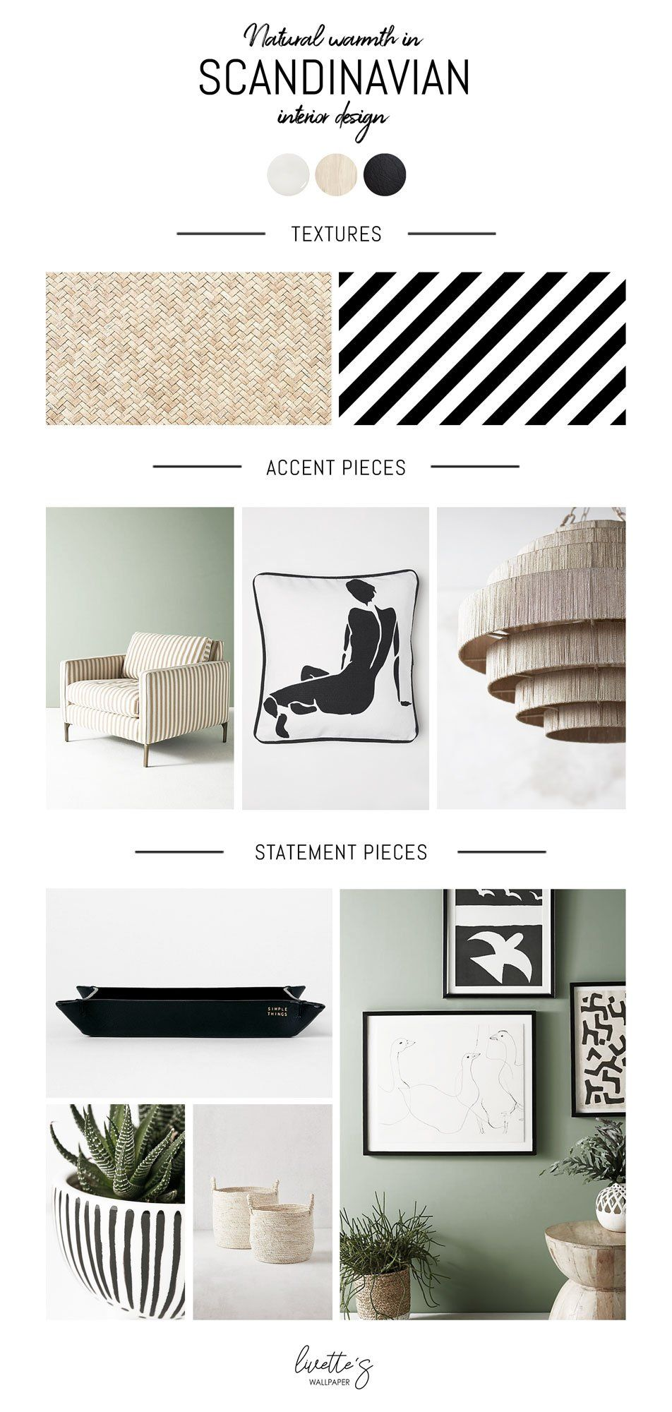Natural warmth in Scandinavian interior design - Mood board Monday