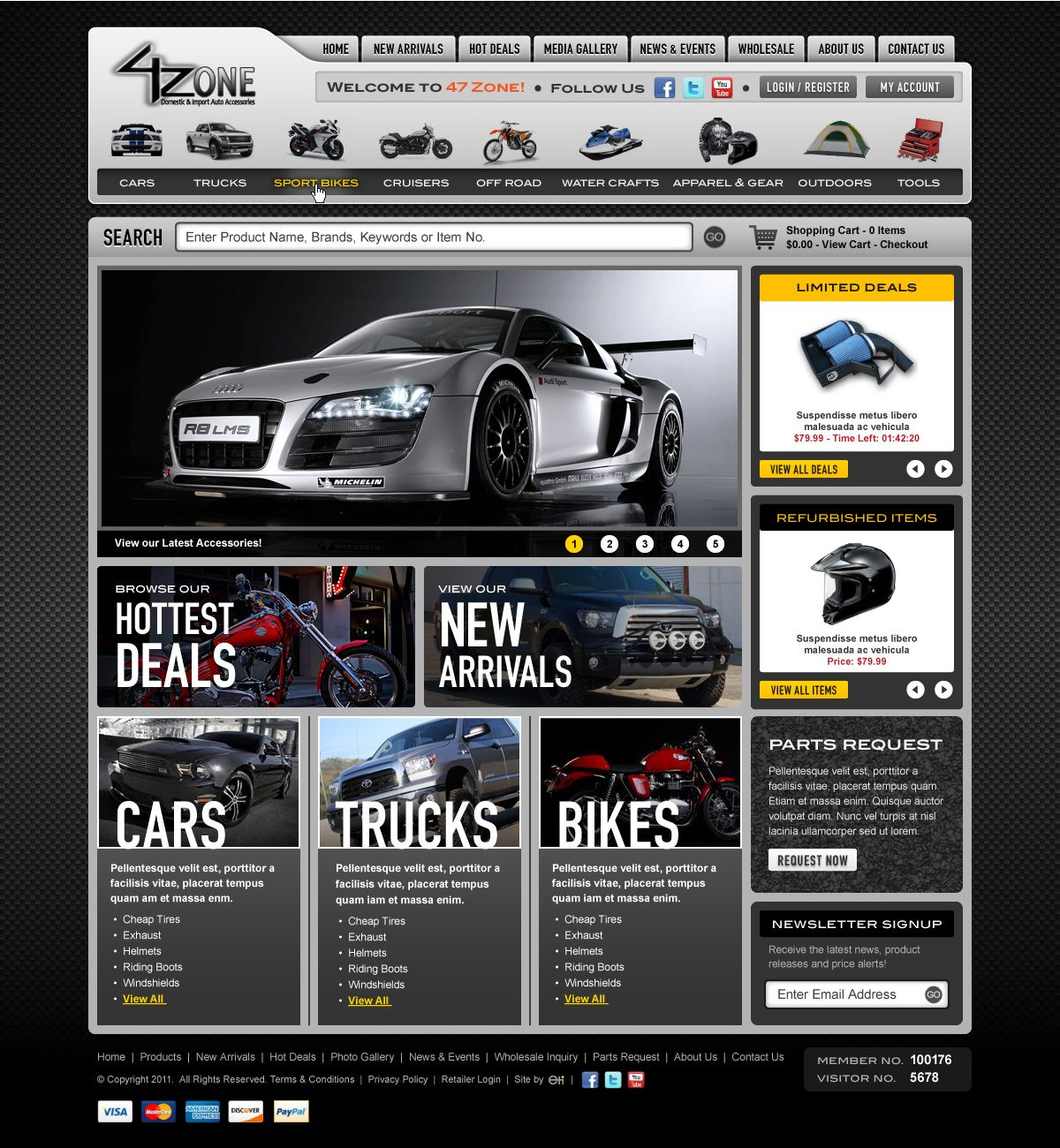 Car website: www.47-zone.com | Web design inspiration | Pinterest ...