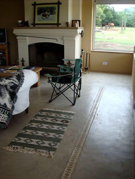 Suelo con incrustacion microcemento piso pinterest - Pared cemento pulido ...
