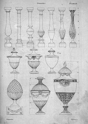 Decorative Urn Delectable Surface Fragments Decorative Urns In Drawings And Paintings Decorating Design
