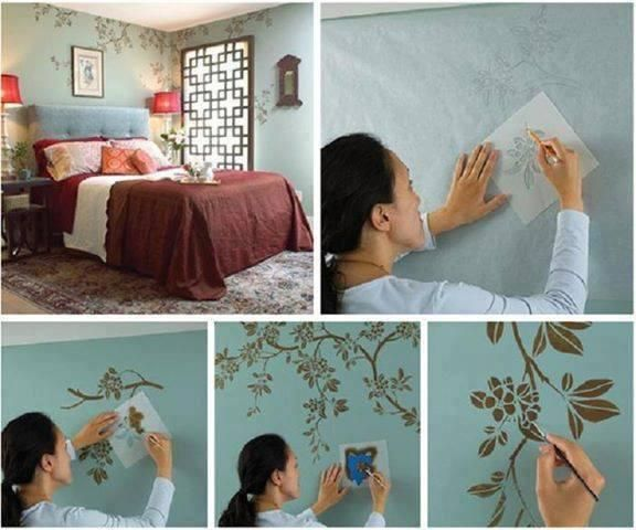 Lieblich Wanddekoration, Wandgestaltung, Deko Ideen, Haus, Malerei, Garten,  Schablonenwände, Wände Streichen, Wandschablonierung