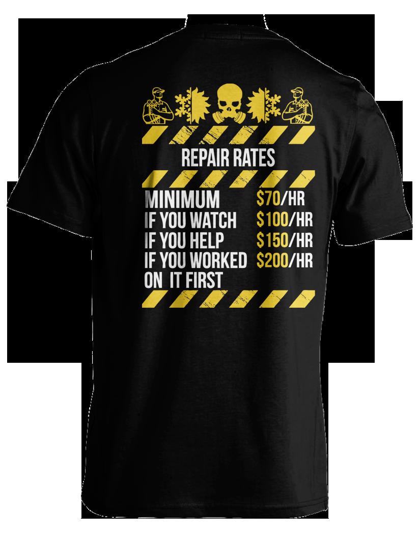 Shirt design rates - Design
