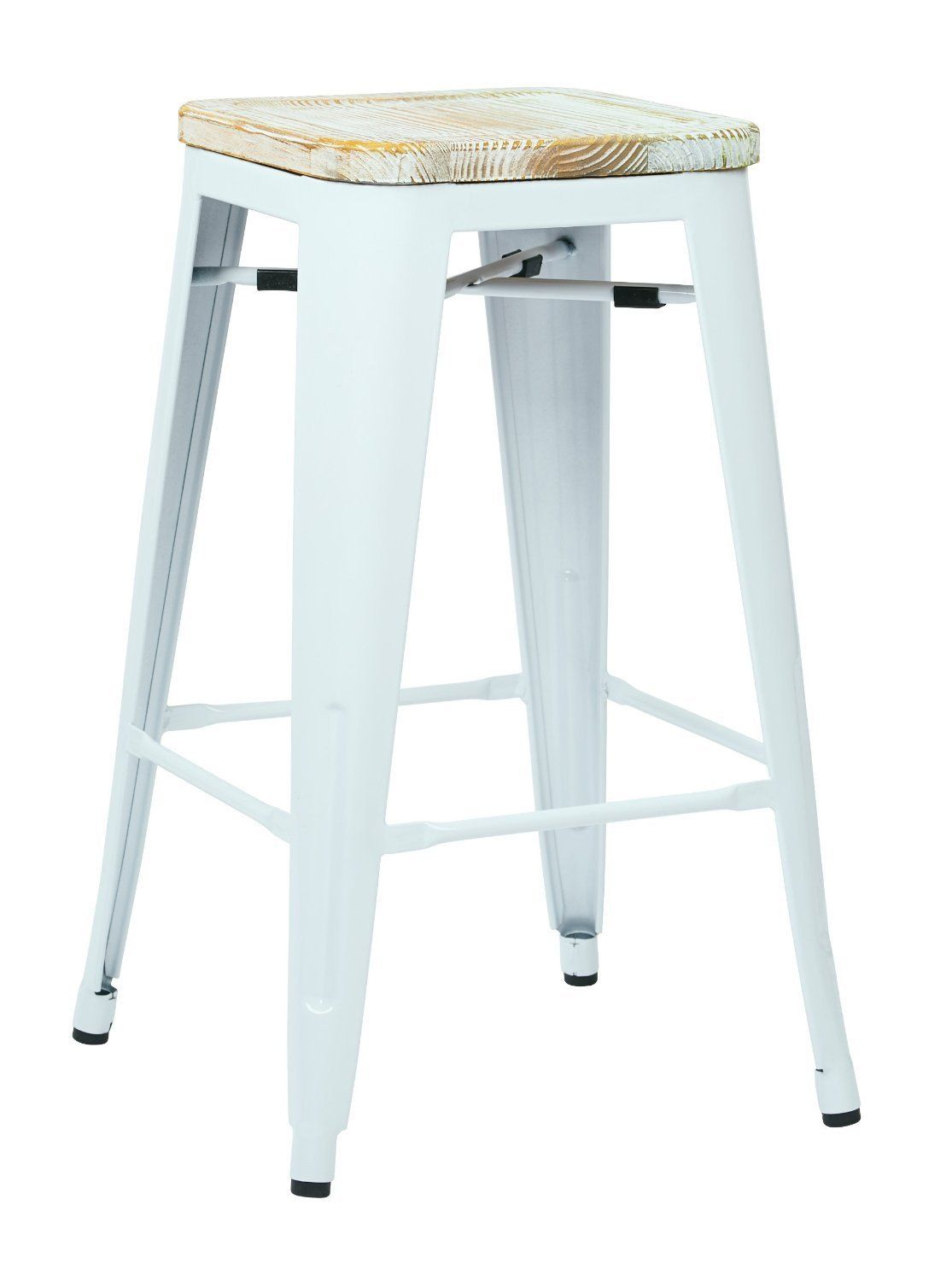 metal bar stools with wood seat. OSP Designs BRW312611A2-C308 Bristow 26\ Metal Bar Stools With Wood Seat A