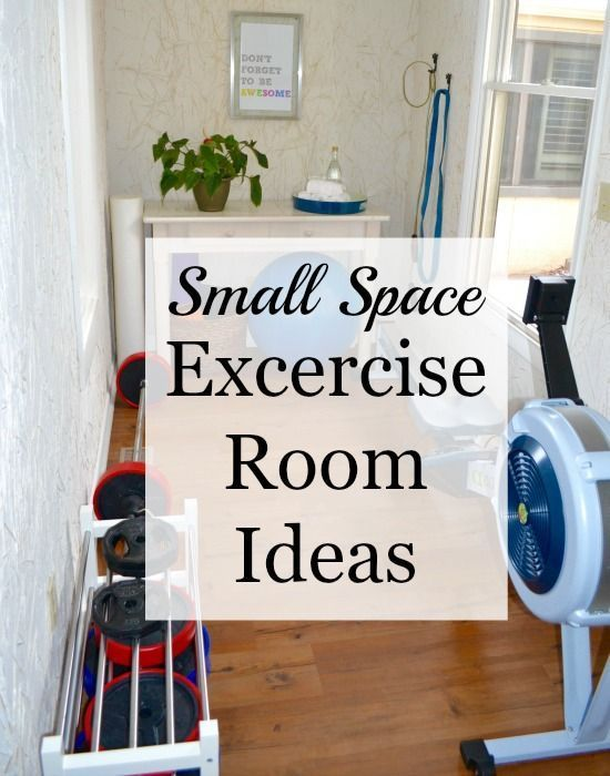 Small Space Exercise Room Ideas Home Organization Pinterest