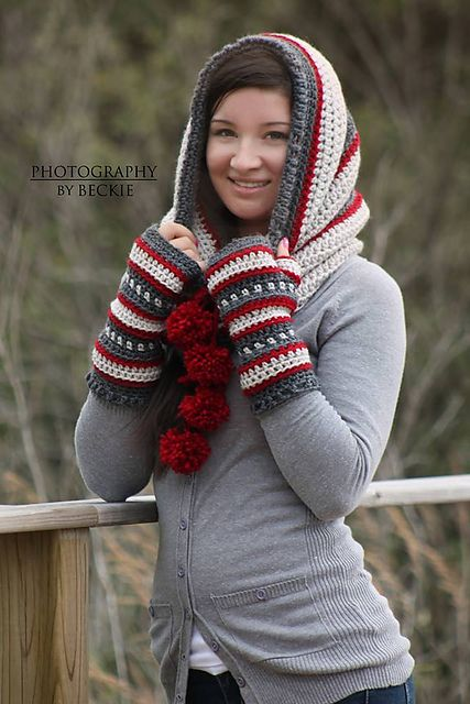 Dylan Hooded Cowl pattern by Sincerely Pam | Gorros, Chal y Chalecos ...