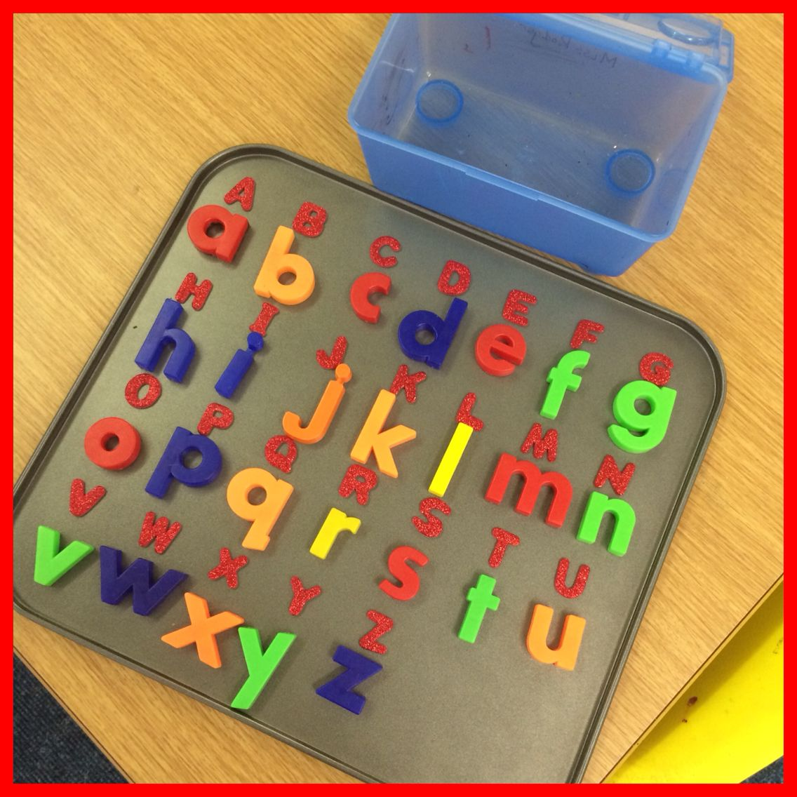 Baking Tray With Foam Uppercase Alphabet Letters