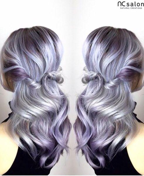 Silver Purple Balayage Hair Goals Hair Purple Hair