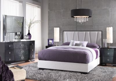 For A Sofia Vergara Biscayne King Black 5pc Upholstered Bedroom At Rooms To Go Find Sets That Will Look Great In Your Home And Complement The