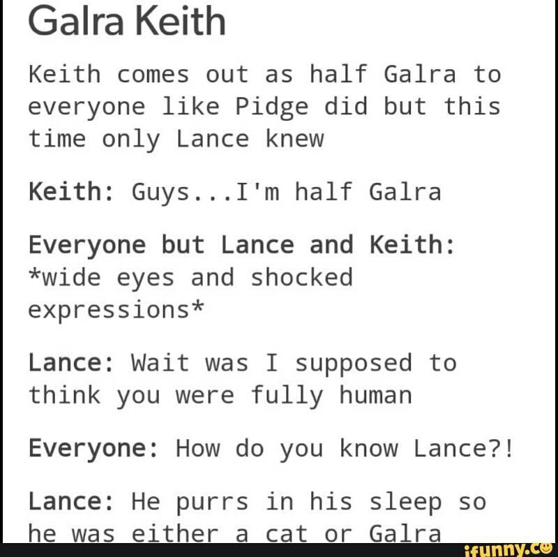 KLANCE PICTURES - GALRA KEITH AND ALTEAN LANCE APPRECIATION