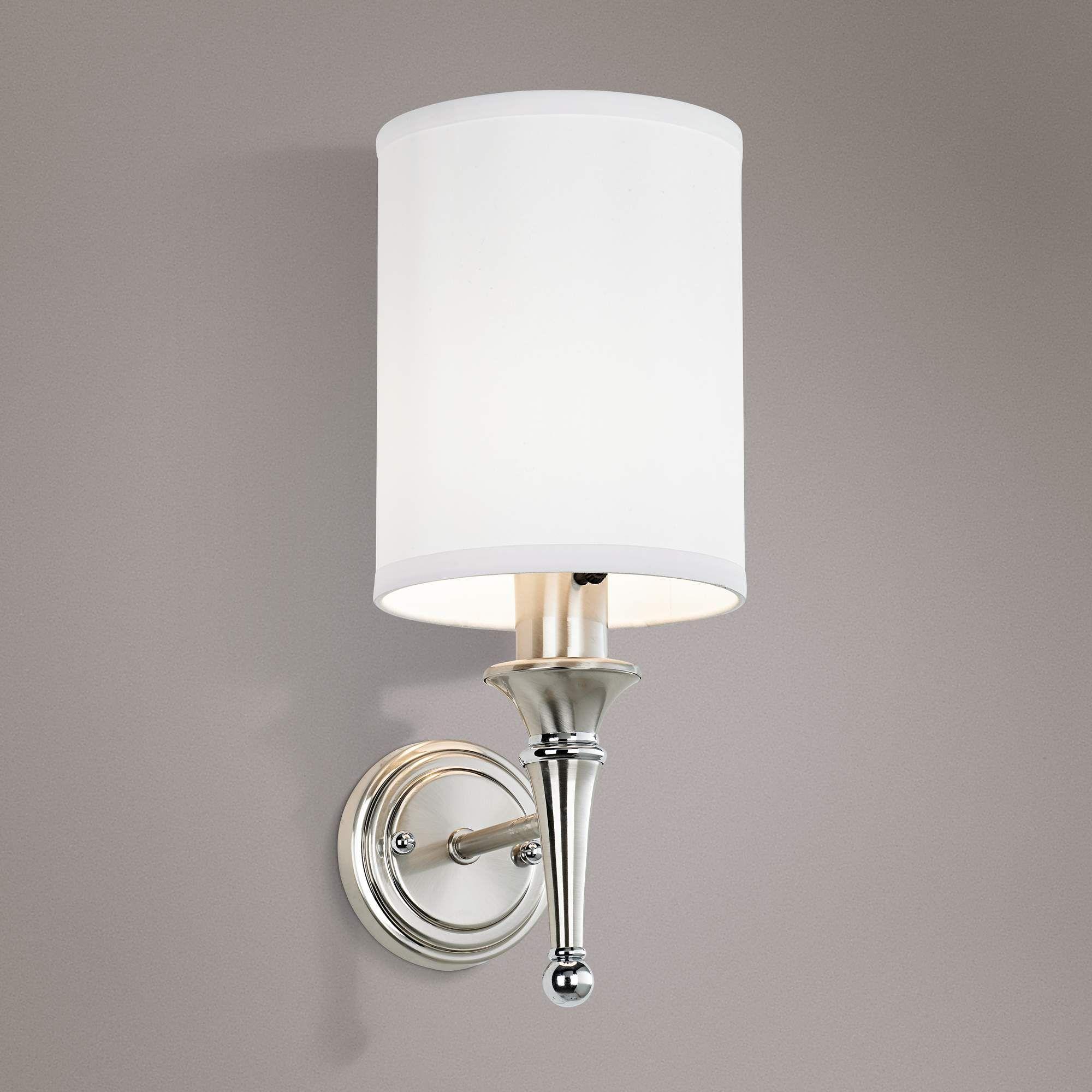 Braidy Brushed Nickel Plug In Wall Sconce 58058 Lamps Plus Plug In Wall Sconce Sconces Wall Mounted Lamps