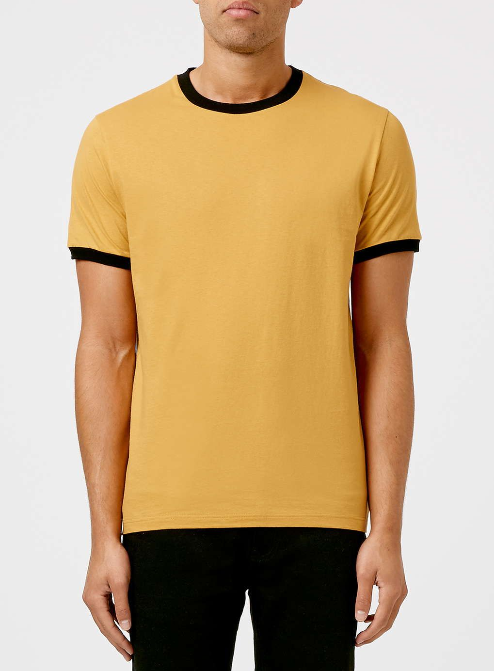 a23993295db Gold and Black Muscle Fit Ringer T-Shirt - Topman