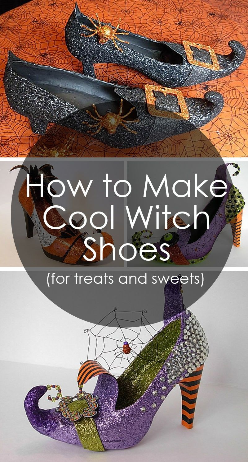 How to Make Amazing Witch Shoes For Sweets and Treets. Click for ...