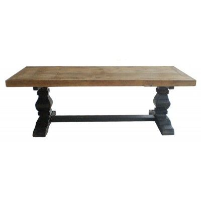 take an old coffee table and put a new wood top on it