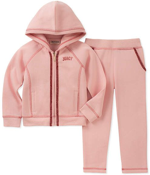 63c3b4f6e Juicy Couture Pink  Juicy  Hoodie   Sweatpants - Infant   Girls ...