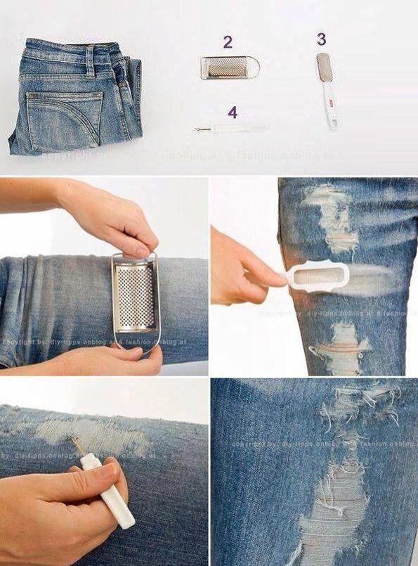 How to Make Vintage Looking Jeans | Moda costumizada Diy | Costura ...