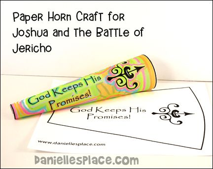 Joshua And The Battle Of Jericho Horn Craft From Www