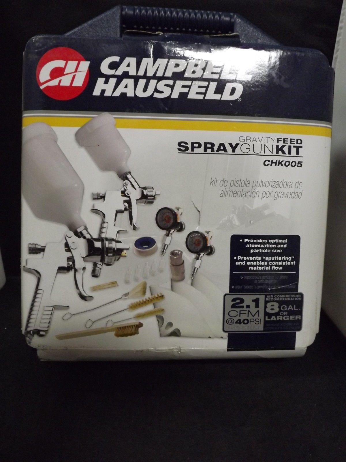 Campbell Hausfeld Paint Sprayer Gun Kit Pneumatic Gravity-Feed Adjusting Valves