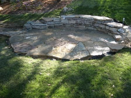 Stone Sitting Area Garden Architecture Landscape Stone Hardscape