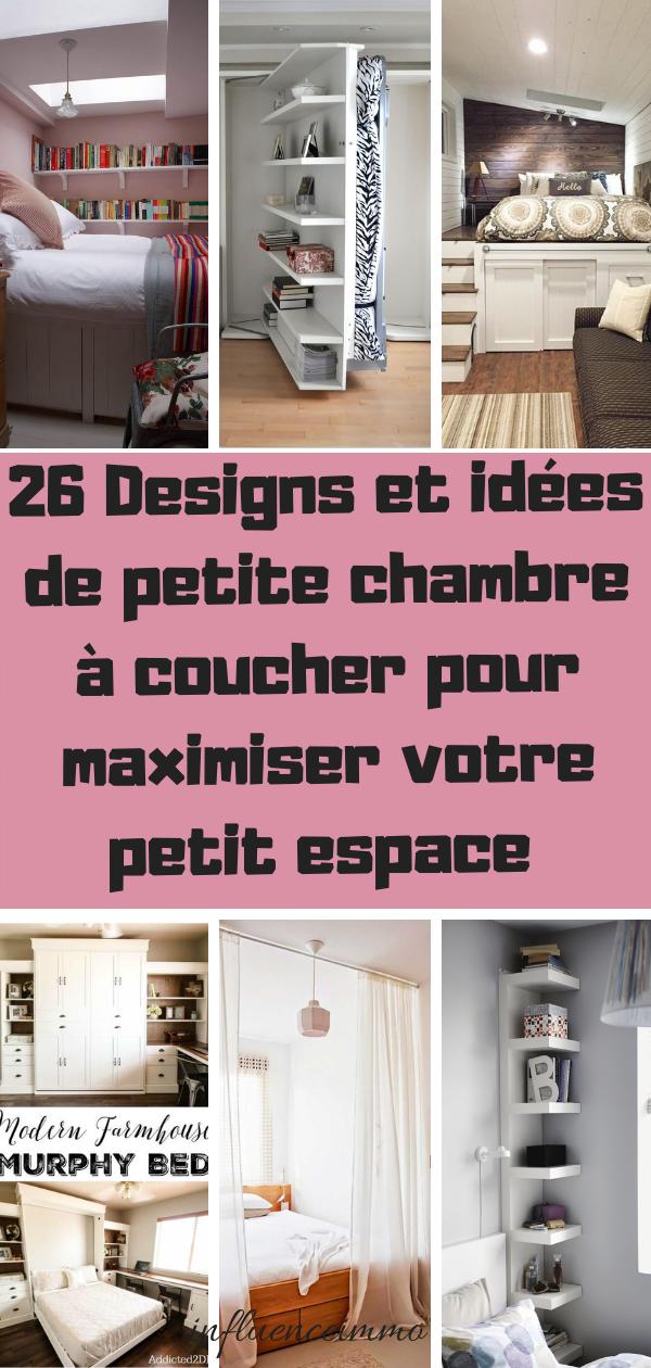 26 id es de designs pour maximiser l 39 espace sous les chambres home deco rangement pour - Chambre petit espace ...
