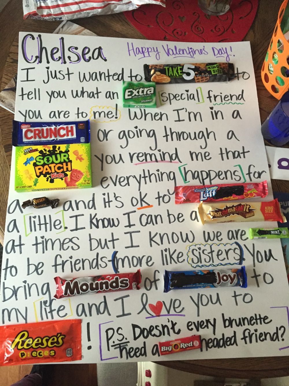 Candy Bar Poster For The Best Friend