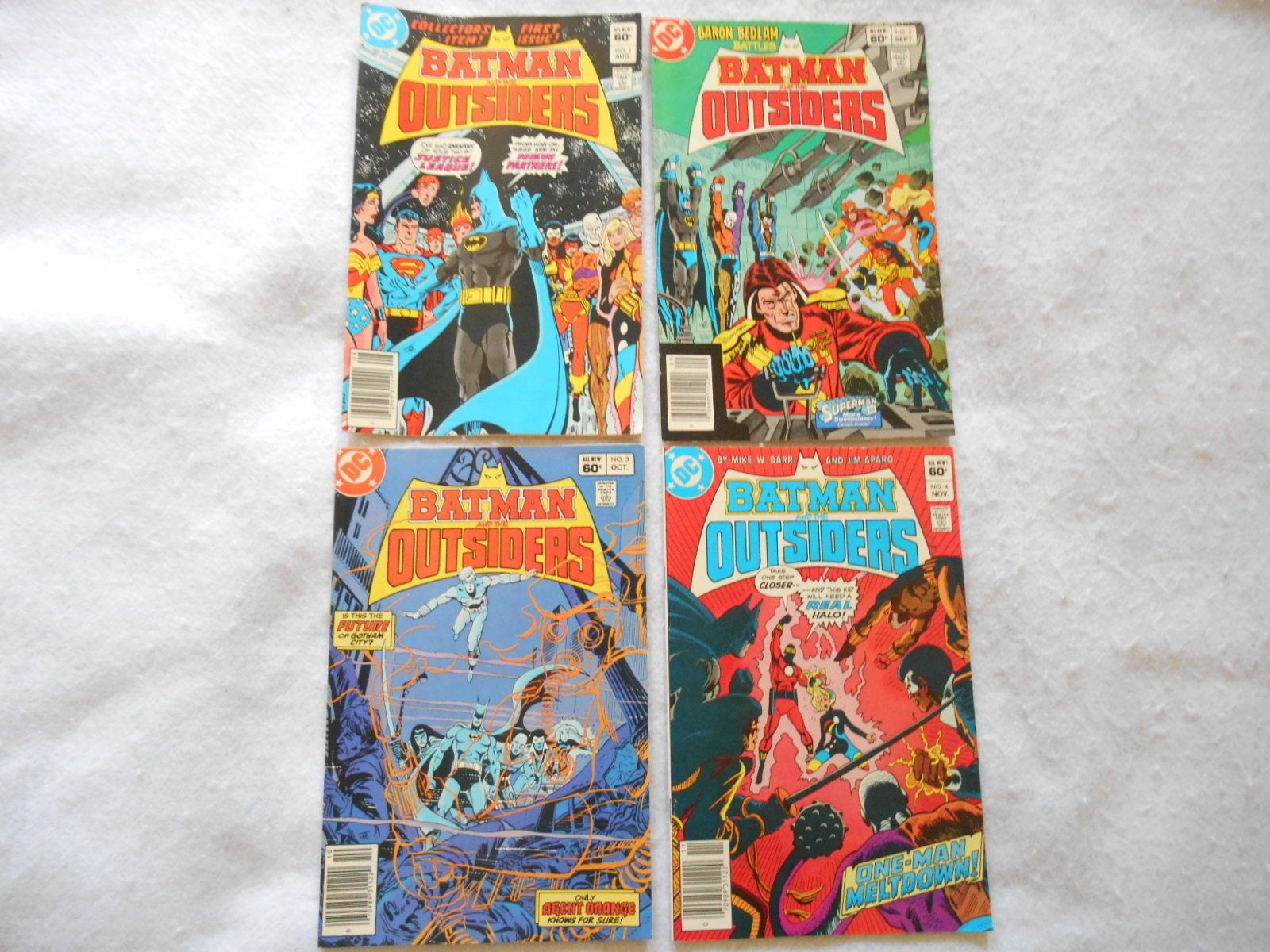 "Up for Auction is a Vintage Lot of 4 ""Batman and the Outsiders"" DC Comics - Issues 1 thru 4 - 1983 - Super NICE This is lot of Issues 1 through 4 of ""... #super #nice #thru #issues #batman #outsiders #vintage"