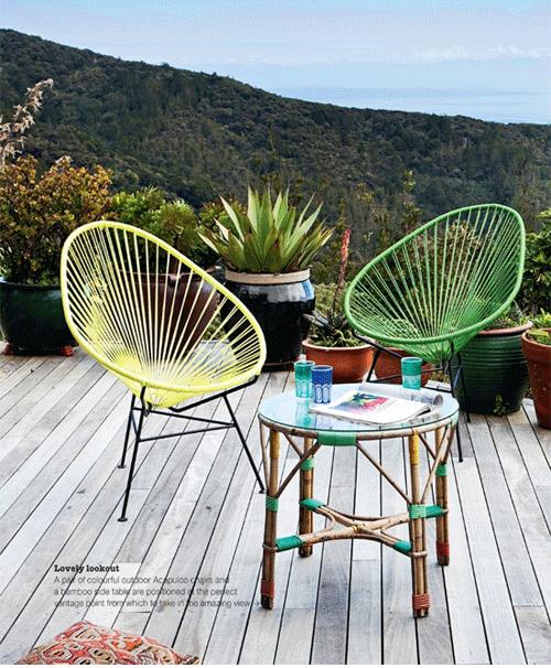 neon chairs
