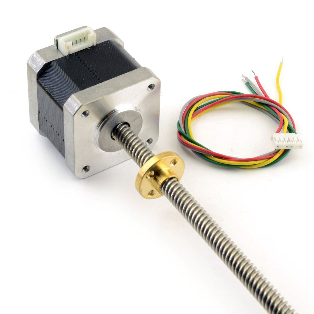 Nema 17 lead screw stepper motor tr8x8 300mm reprap for Nema 17 stepper motor datasheet