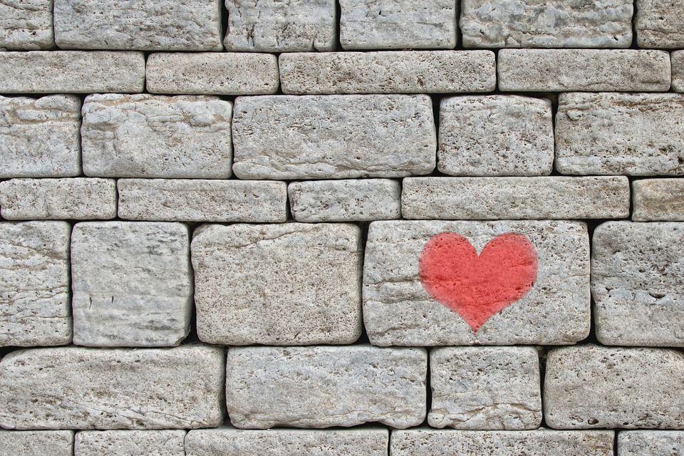 Kostenloses Foto Steine, Wand, Herz, Mauer, Grau - Kostenloses - graue wand und stein