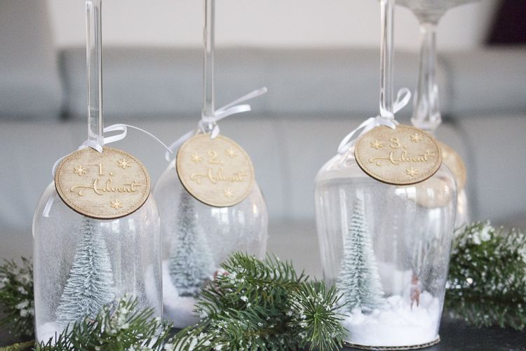 Adventskranz aus glas