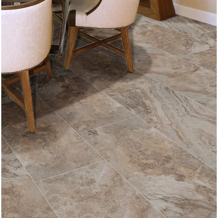 "Napa 12"" x 24"" Ceramic Stone Look Wall & Floor Tile in"