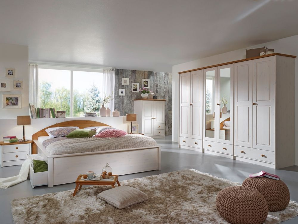 Schlafzimmer Kiefer ~ Sky komplett schlafzimmer kiefer weiss eichefarbig gebeizt 248