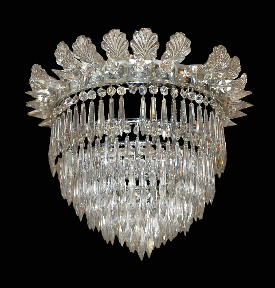 American victorian crystal basket chandelier all things victorian american victorian crystal basket chandelier arubaitofo Gallery