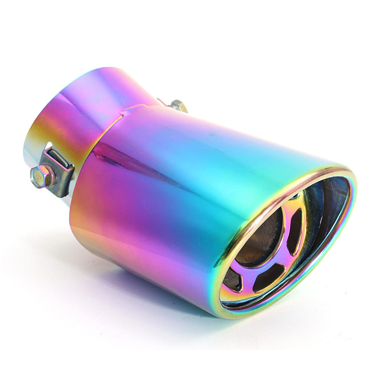 Car EXHAUST Tail Muffler Tip Pipe Chrome Round Fit Pipe Diameter Neo Chrome