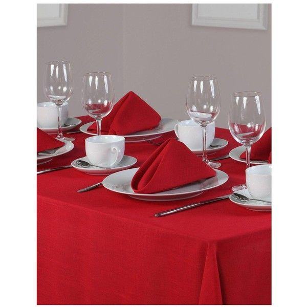 Essentials Oblong Table Linen Set (8 Place Settings) (46 CAD) ❤ liked  sc 1 st  Pinterest & Essentials Oblong Table Linen Set (8 Place Settings) (46 CAD ...