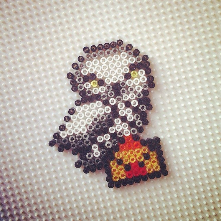 Hedwig Harry Potter Hama Beads By Hadavedre Perler Bead Art Hama Beads Design Harry Potter Perler Beads