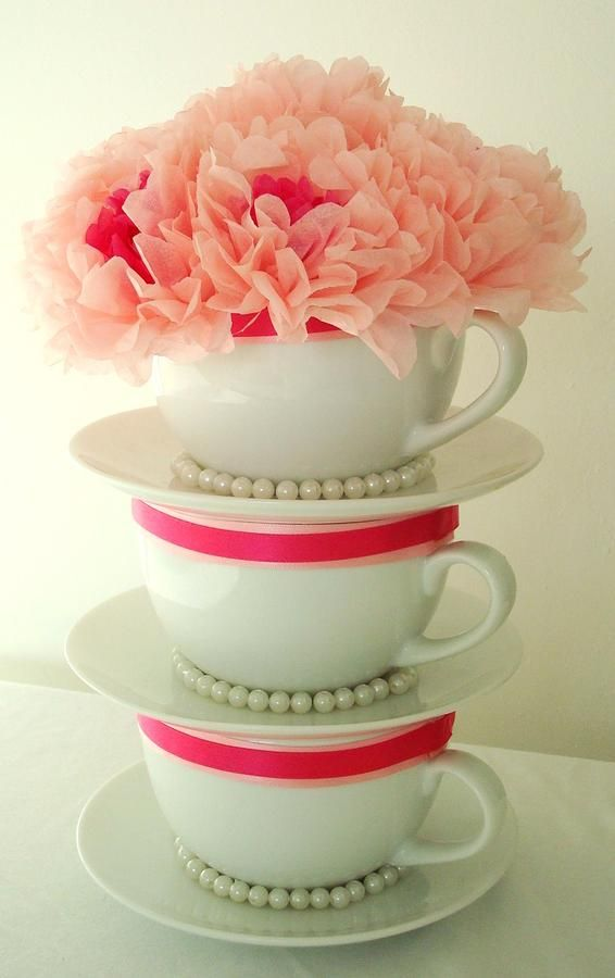 more teapots/teacups theme - still wouldn't want it at my daughter's wedding but would l love the ideas for a woman's tea party