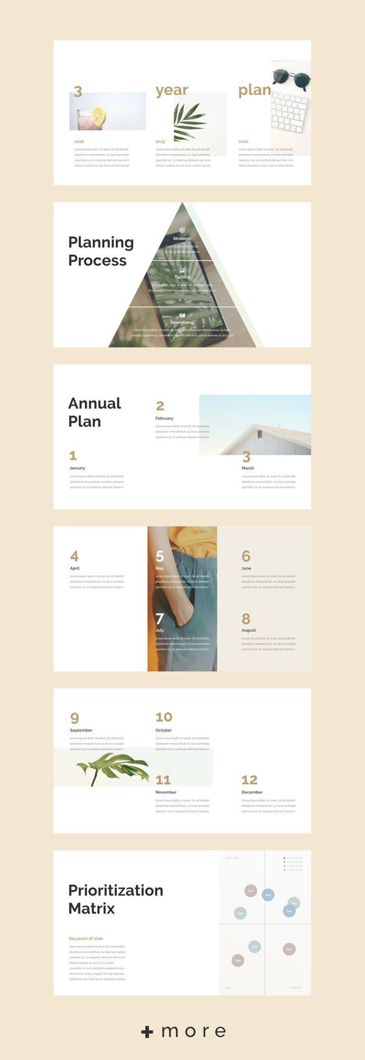 Planner Keynote Template Ideias para apresentações