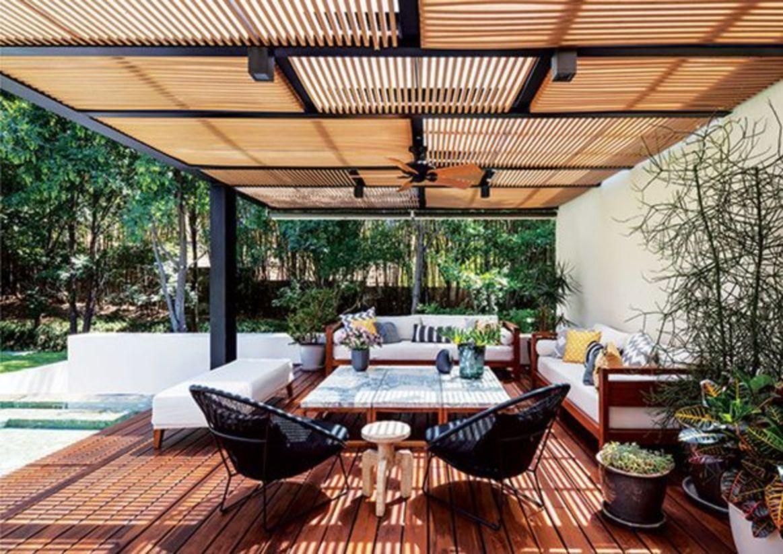52 Roof Terrace Decorating Ideas That You Should Try Pergola Patio Casas Fachadas De Casas