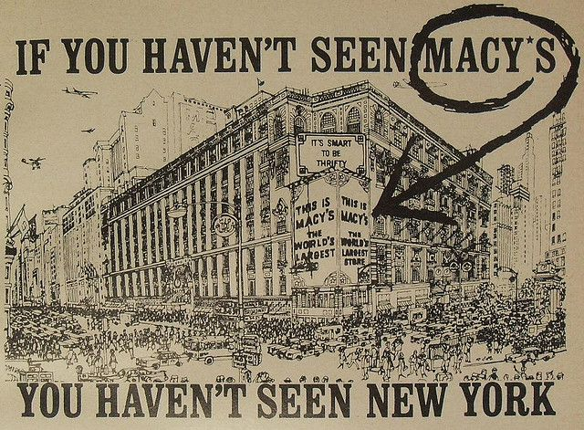 macy's vintage images | 1965 Macys Vintage Department Store Herald Square 1960s NYC ...