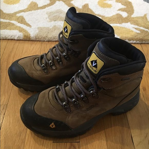 Genuine Vasque Hiking Boots Genuine Vasque Hiking Boots, some of the best boots you can buy. Extremely well crafted, Vibram soles. Worn a couple of times. Vasque Shoes