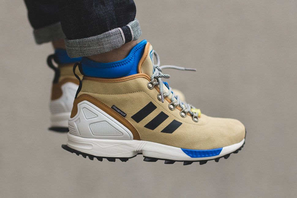 The adidas ZX Flux Winter Sand, Core Black, Footwear White is the latest  winterized adidas ZX Flux colorway to release just in time for Fall/Winter