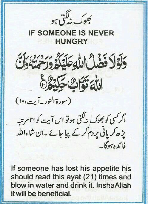 Dua To Read When Someone Is Never Hungry | Bhook Na Lagti Ho