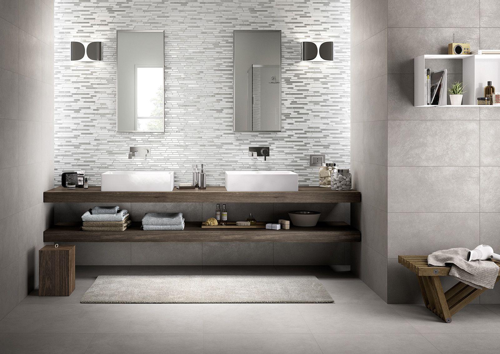 Marazzi Metal Mosaic Bianco 30x33 cm MLWM  Gres  su casaebagnoit a 98 Euromq  mosaico bagno cucina  Marazzi  Bathroom Furniture