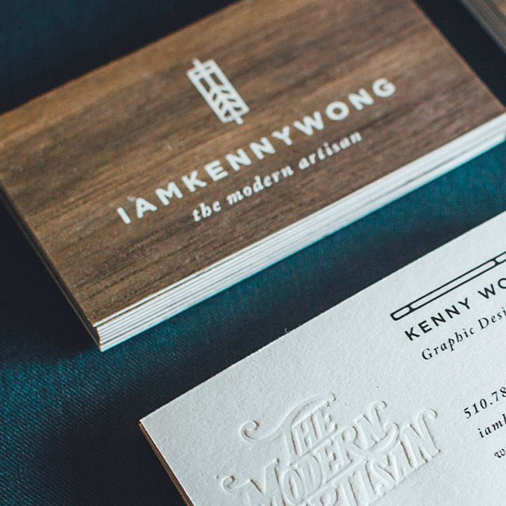 Keny Wong Wooden Business Cards | JukeBoxPrint.com | Business cards ...